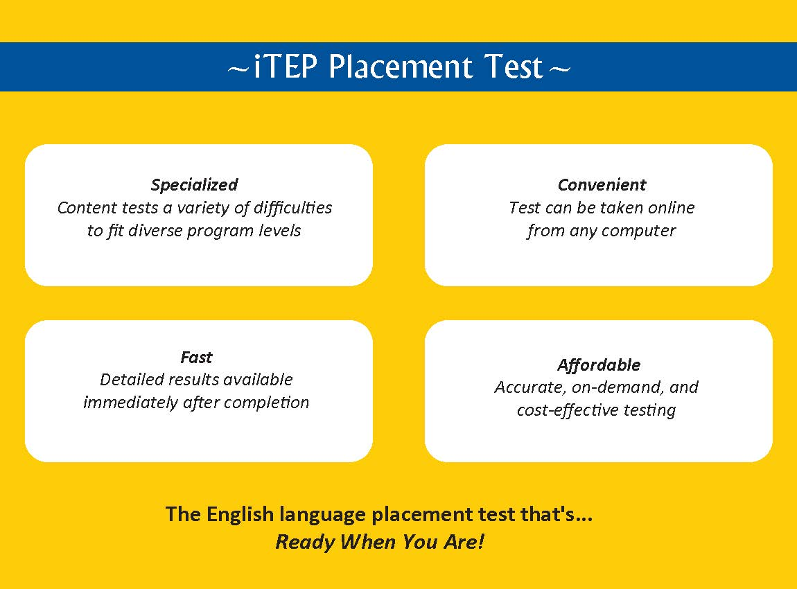 Taking English Placement Exam?